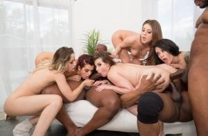 Ebony Orgy Porn